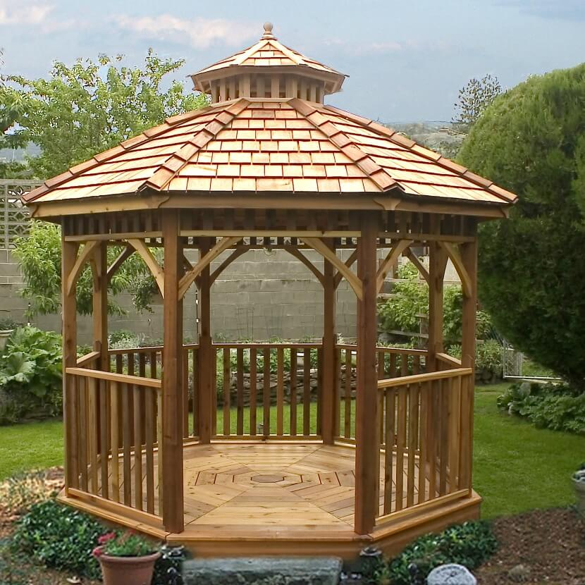 106 gazebo designs ideas wood vinyl octagon rectangle and more photos - Build rectangular gazebo guide models ...