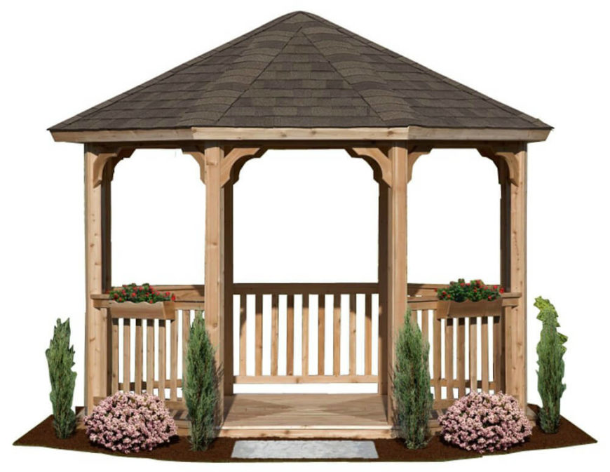 14 Cedar Wood Gazebo Designs Octagon Rectangle Hexagon