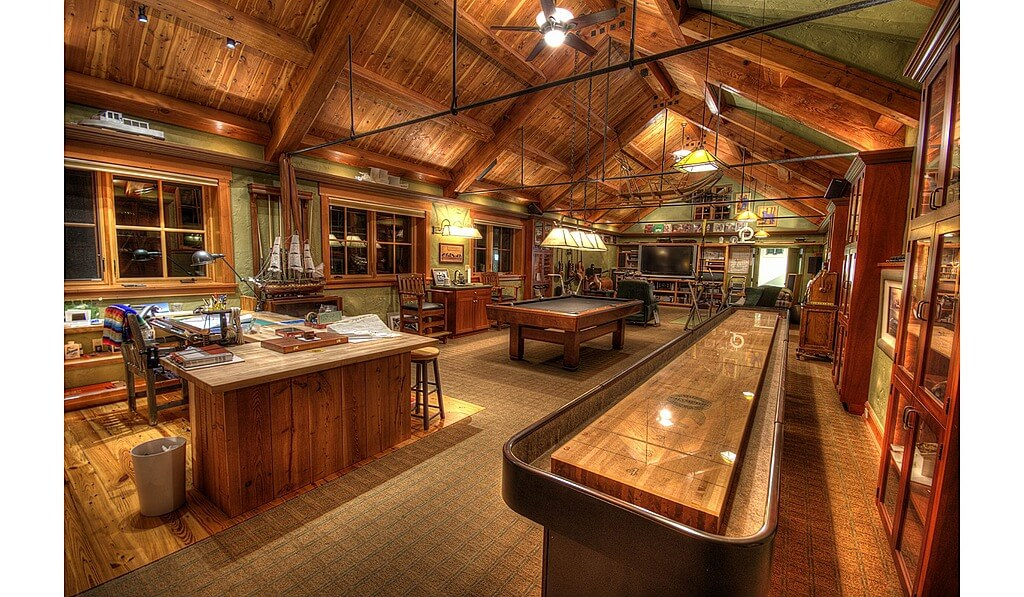 60 finished basement man cave designs awesome pictures for Man cave plans