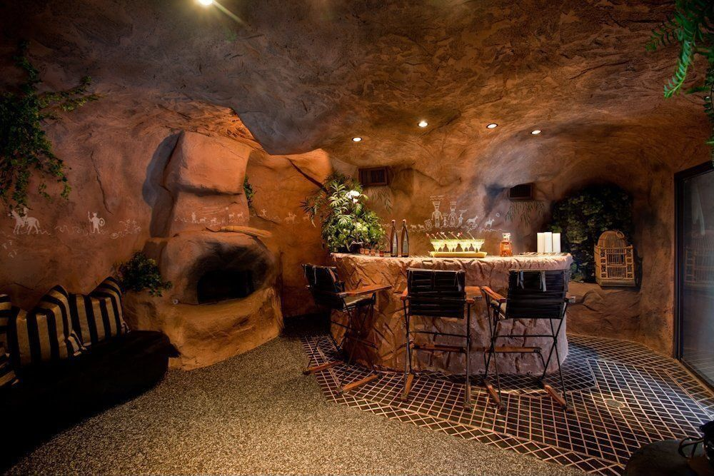 Here's a man cave that's actually a cave.