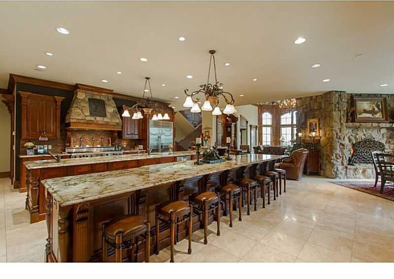Massive Kitchen With Two Full width Islands One Island
