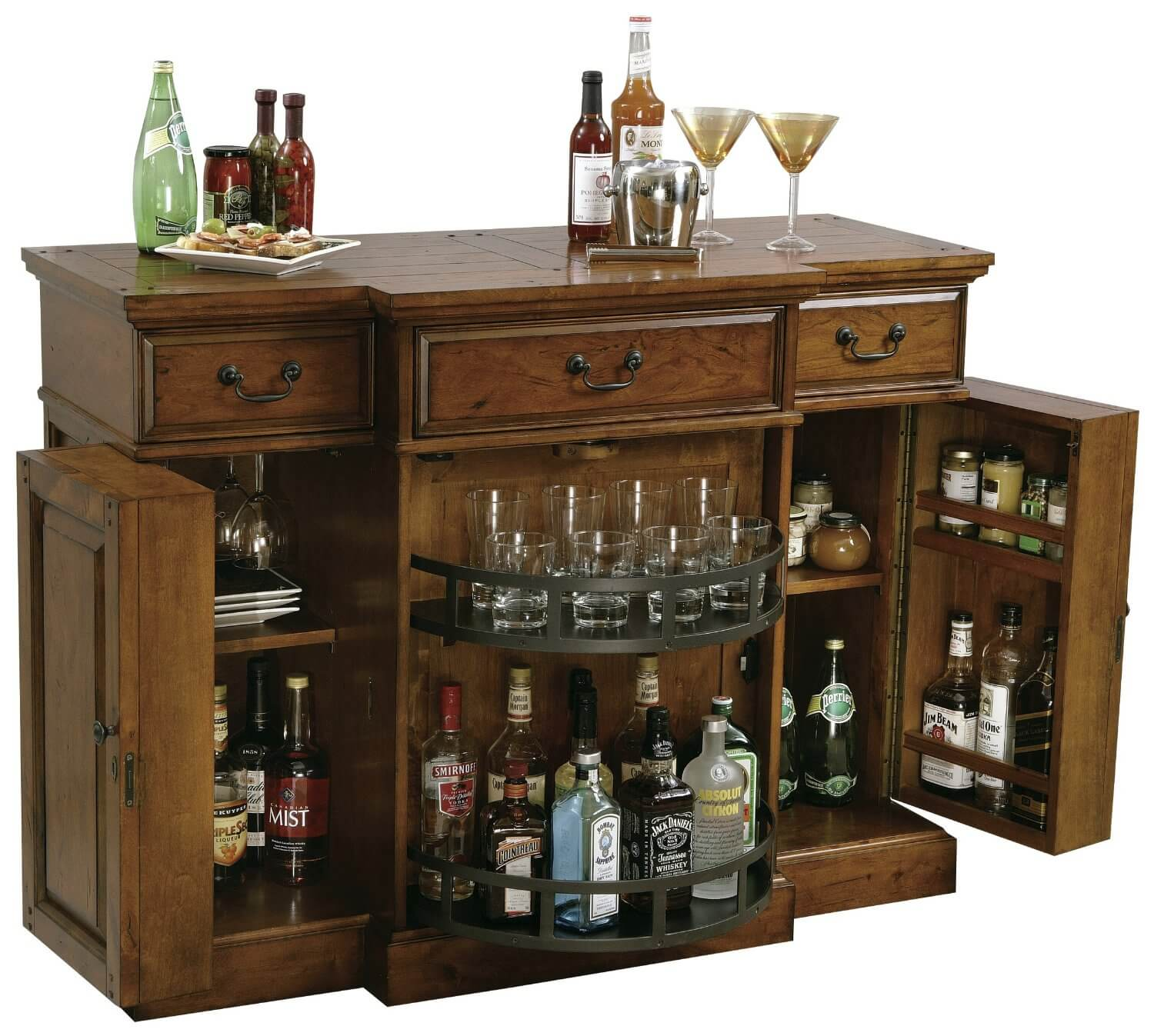 liquor cabinet with serving counter learn more globe wine and liquor ...