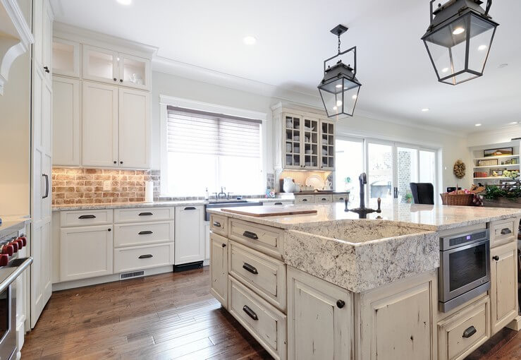 Kitchen Islands With Countertop Seating For Eight