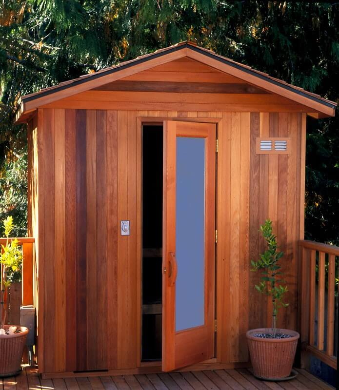 52 dry heat home sauna designs photos for Building an outdoor room
