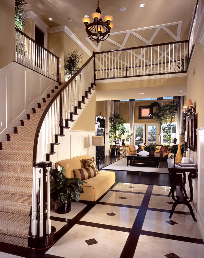 45 custom luxury foyer interior designs for House plans with stairs in foyer