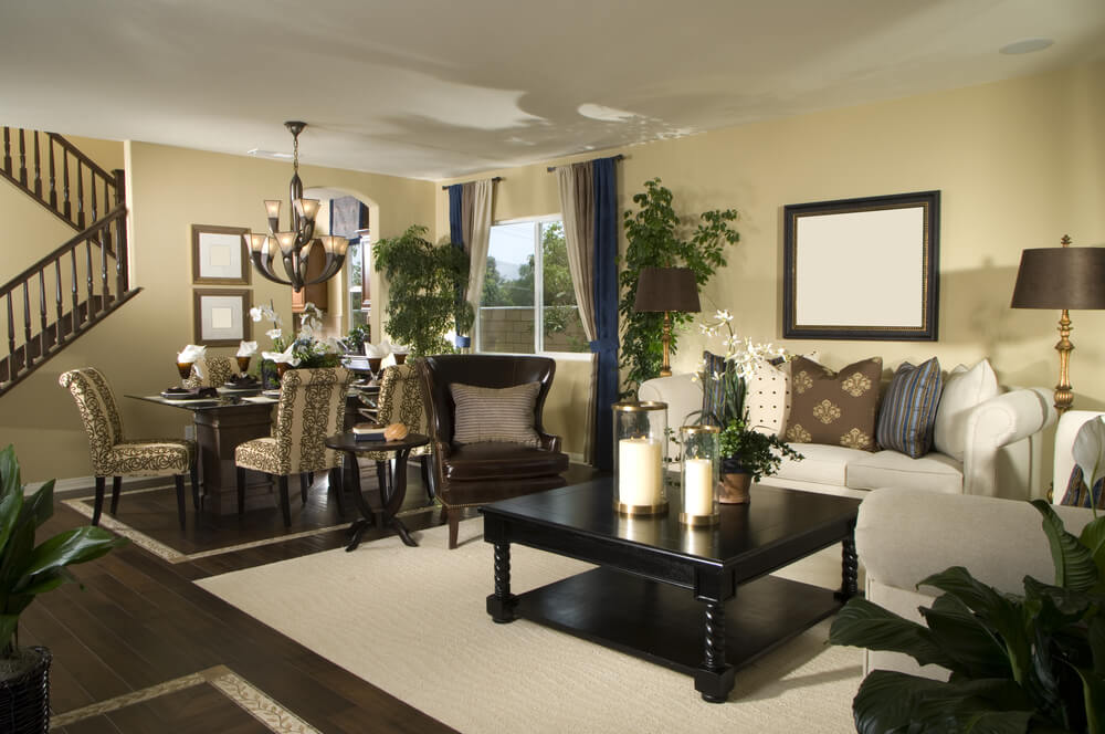 75 formal casual living room designs furniture for Living room ideas earth tones