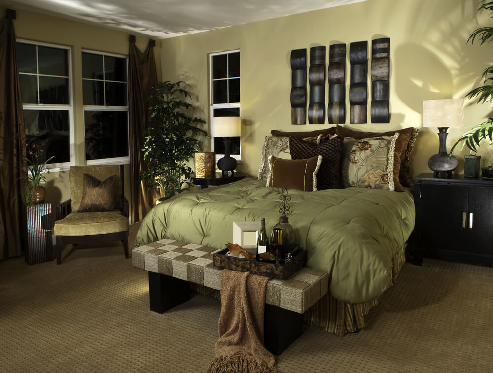 58 custom luxury master bedroom designs pictures for Bedroom interior designs green