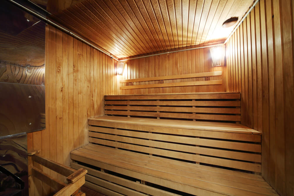 three tiered sauna interior i particularly like saunas with three