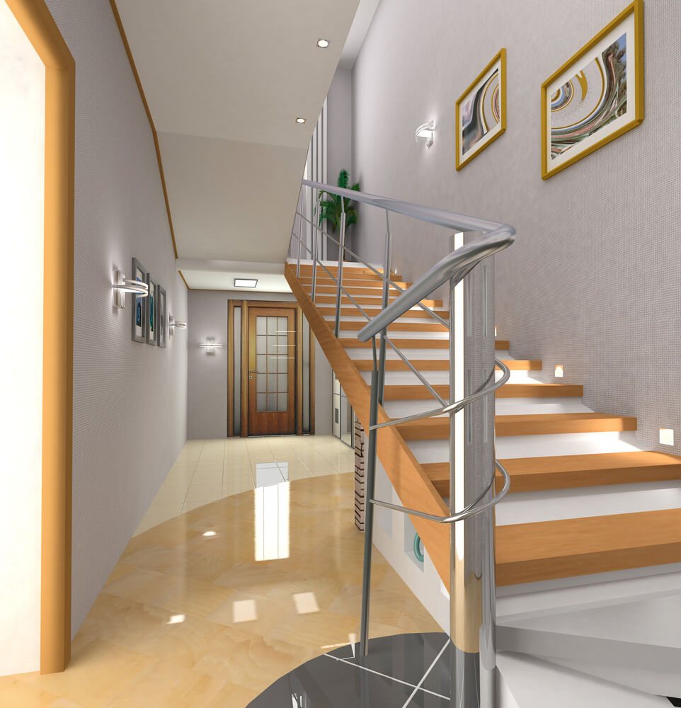 45 custom luxury foyer interior designs for Foyer staircase ideas