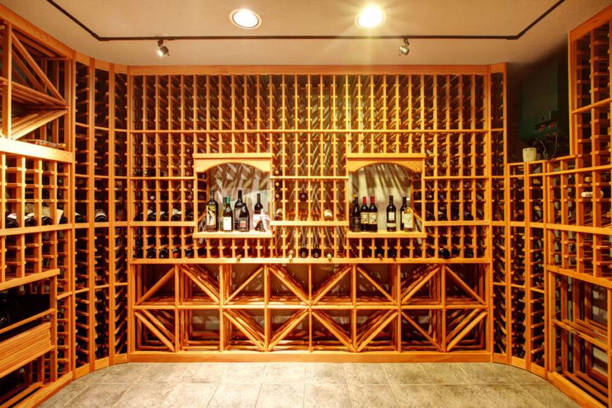 41 custom luxury wine cellar designs for Wine cellar flooring options