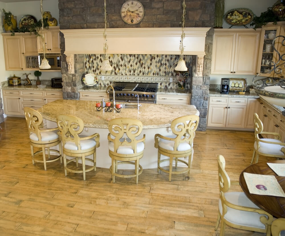 64 deluxe custom kitchen island designs beautiful for Kitchen island with round seating area