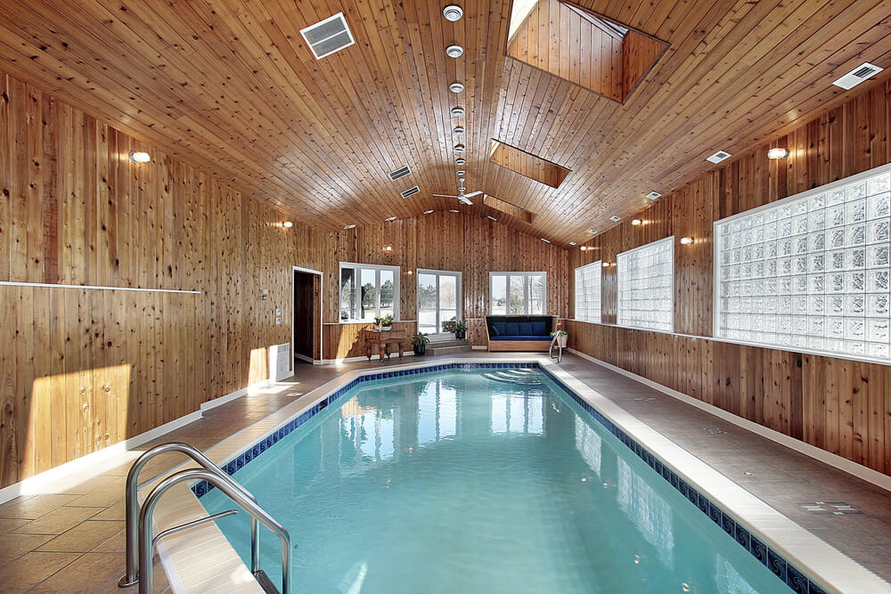 45 screened in covered and indoor pool designs for Covered swimming pool designs