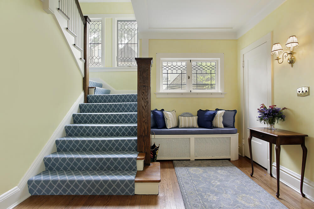 Small Foyer With Stairs : Custom luxury foyer interior designs