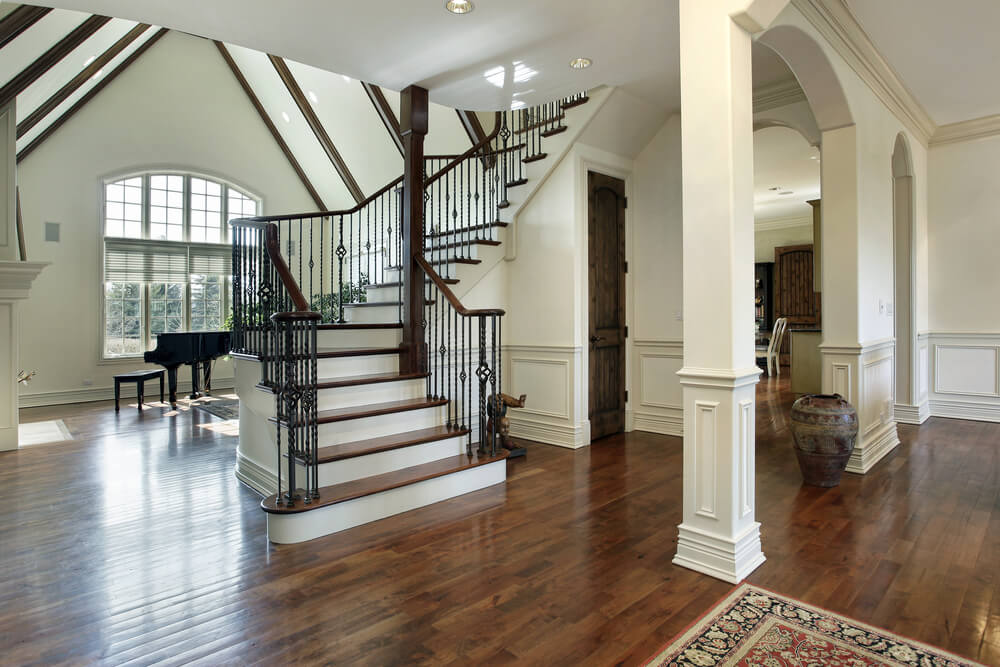 45 custom luxury foyer interior designs - Home entrance stairs design ...