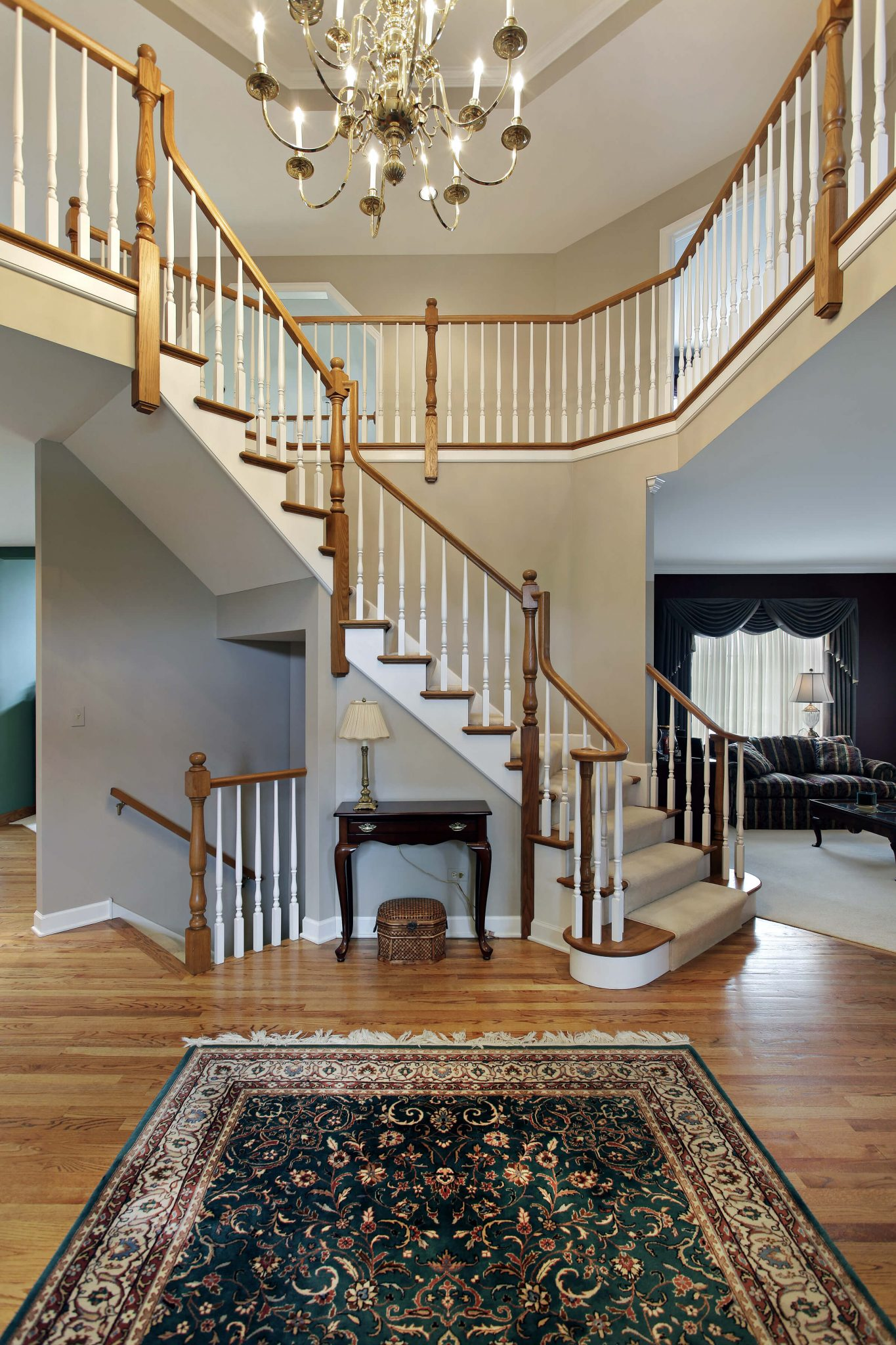 45 custom luxury foyer interior designs - Home designer stairs with landing ...