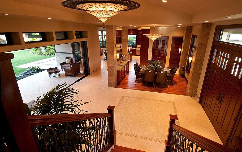 Foyer Open To Dining Room : Custom luxury foyer interior designs