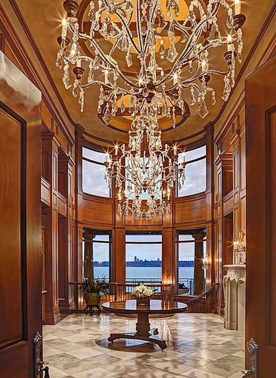 Luxury Foyer Chandeliers : Custom luxury foyer interior designs
