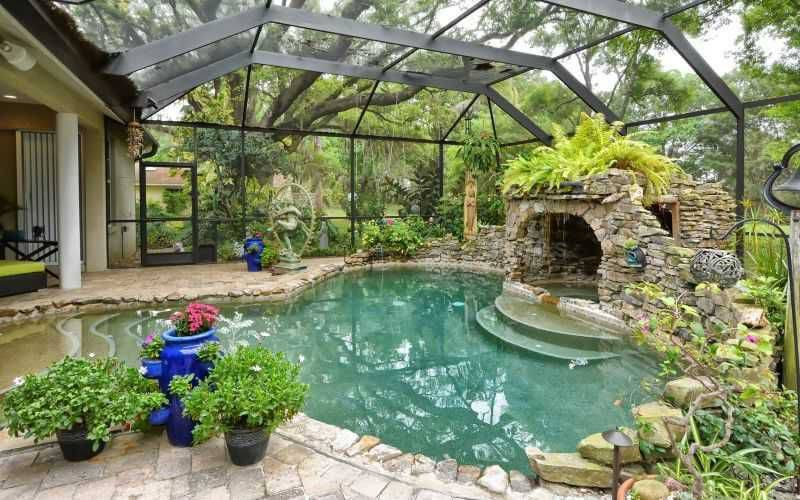 45 screened in covered and indoor pool designs - Covered swimming pools design ...