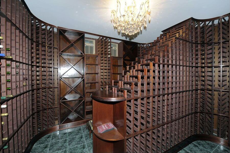 wine cellar capable of storing thousands of bottles of wine in dark