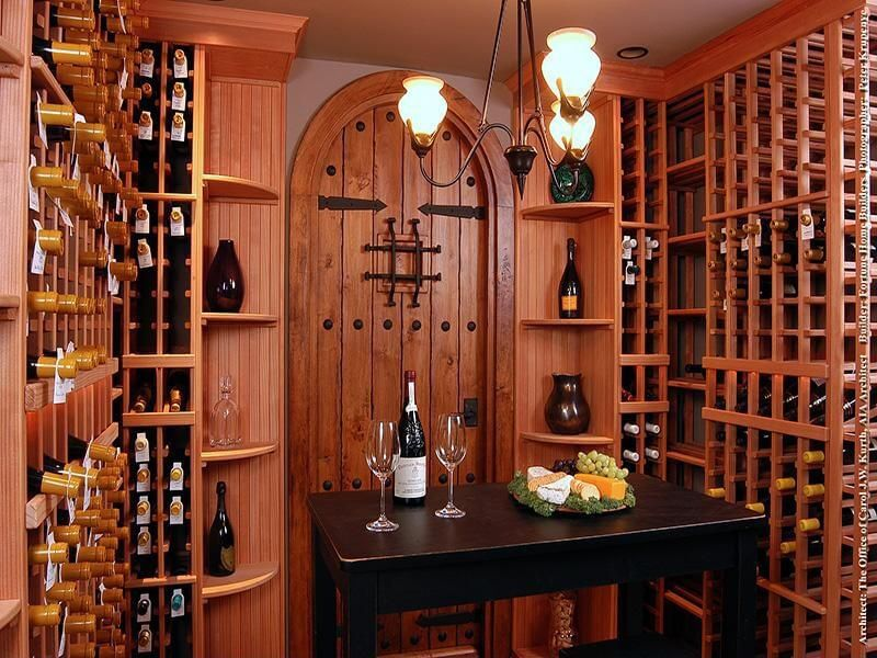 41 custom luxury wine cellar designs for Designing a wine cellar