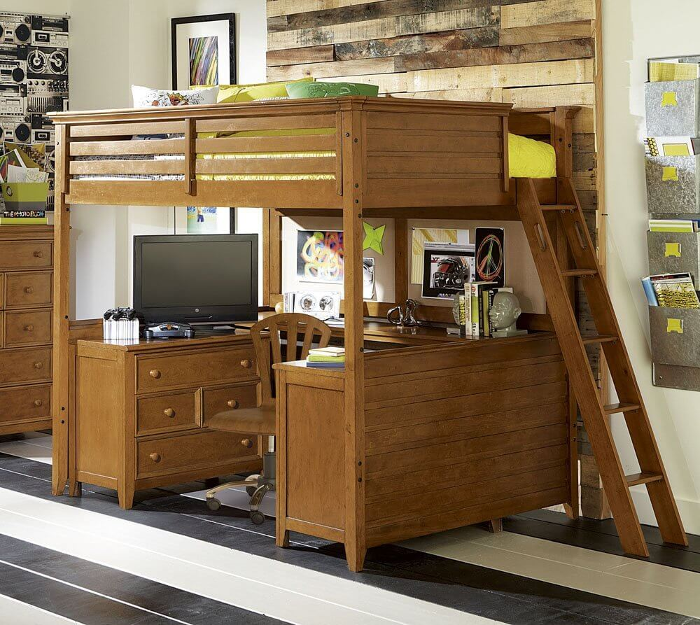 children s office under bed in bunk bed loft system learn more