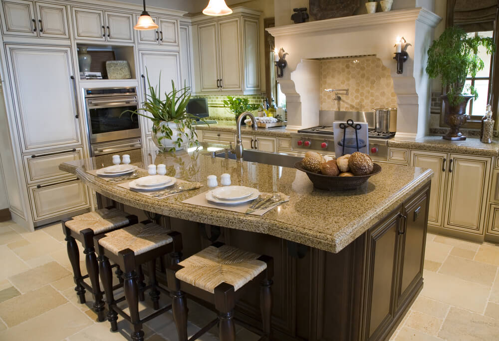 39 fabulous eat in custom kitchen designs for Large kitchen island plans