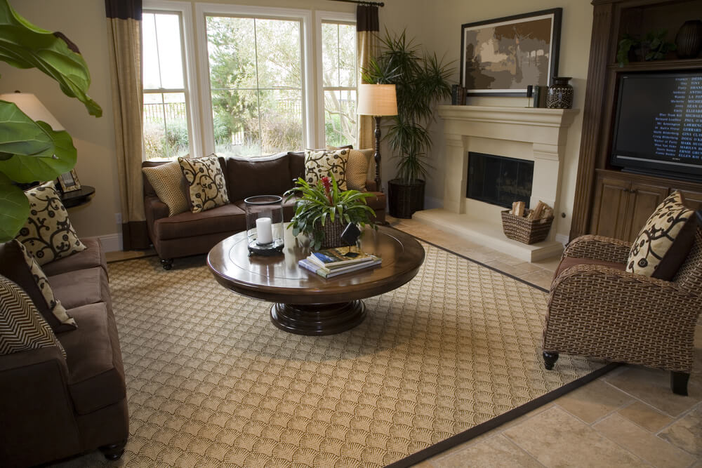 47 beautifully decorated living room designs for Beige and brown living room ideas