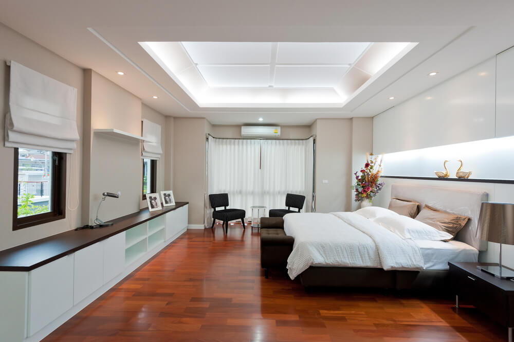 61 bright cheery white bedroom designs for Recessed area