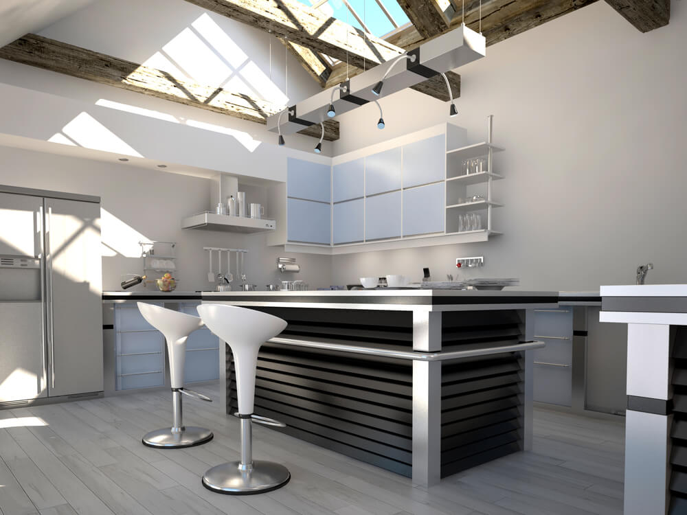 43 small kitchen design ideas some are incredibly tiny for Table bar ilot