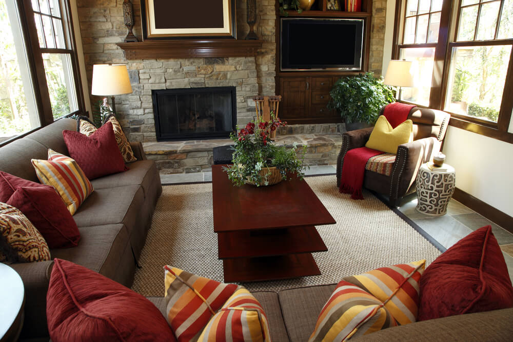 53 cozy small living room interior designs small spaces for Red and brown living room furniture