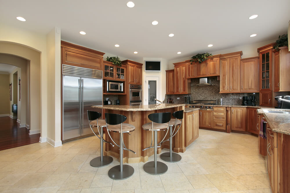 43 New And Spacious Light Wood Custom Kitchen Designs