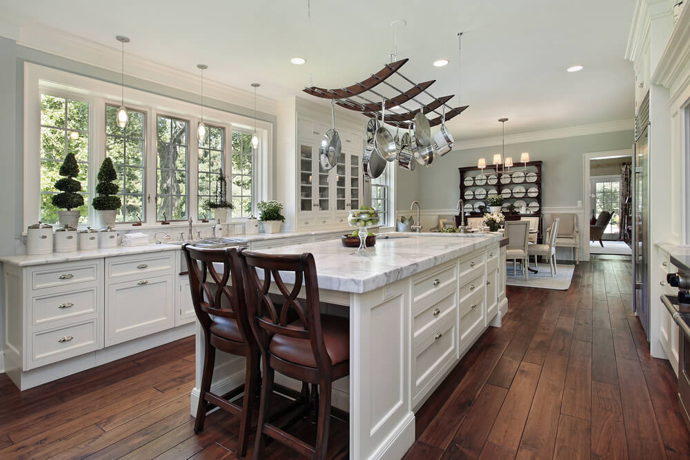 100 kitchen design ideas definitive guide for Open galley kitchen with island