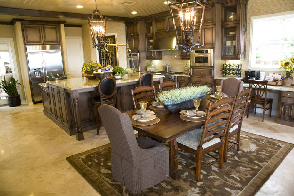 39 fabulous eat in custom kitchen designs for Large open kitchen designs