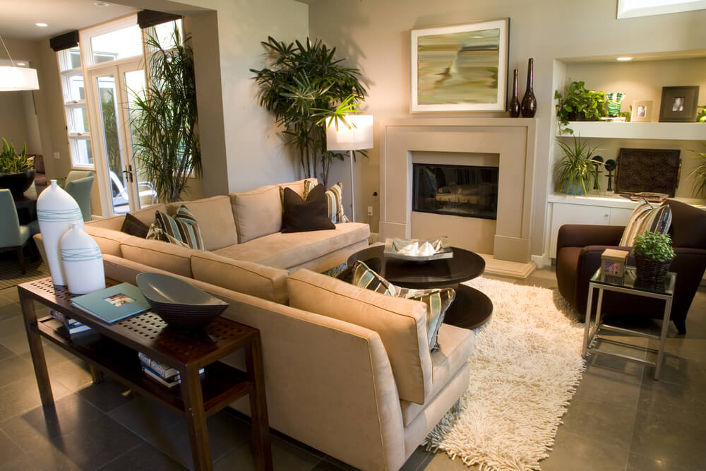 53 cozy small living room interior designs small spaces for Small size drawing room interior