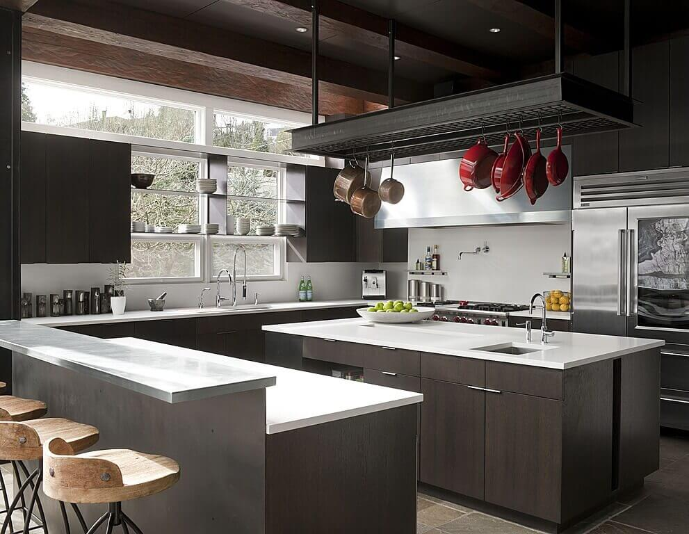 Modern Luxury Kitchen Designs Additionally Custom Luxury Home Designs