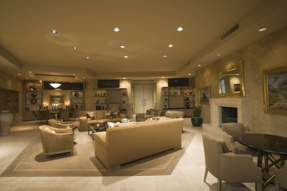 51 grand living room interior designs for Living room 2 seating areas