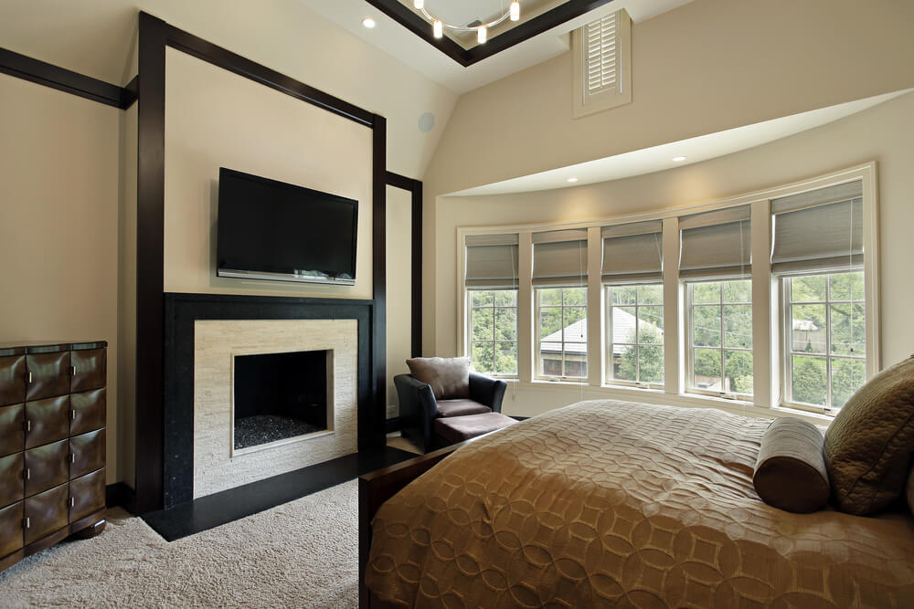 43 spacious master bedroom designs with luxury bedroom for Modern bedroom window design