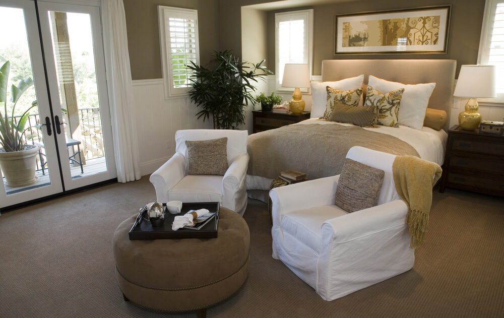 Two Loveseats In Living Room