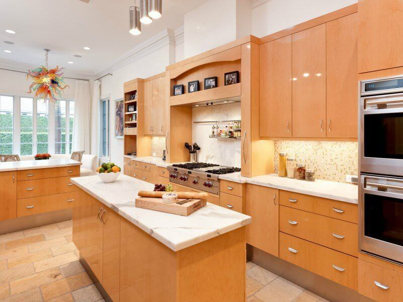 49 contemporary high end natural wood kitchen designs for Earth tone kitchen designs