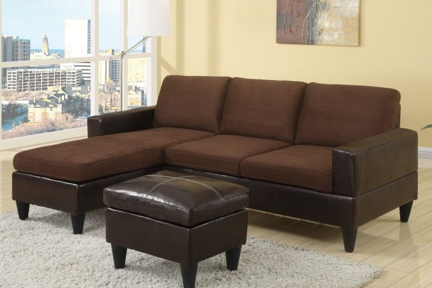 13 sectional sofas under 500 several styles for Brown microfiber chaise lounge