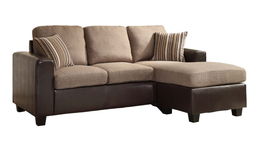13 Sectional Sofas Under 500 Several Styles : Am Light and dark brown chaise sectional sofa 870x473 from www.homestratosphere.com size 870 x 473 jpeg 41kB