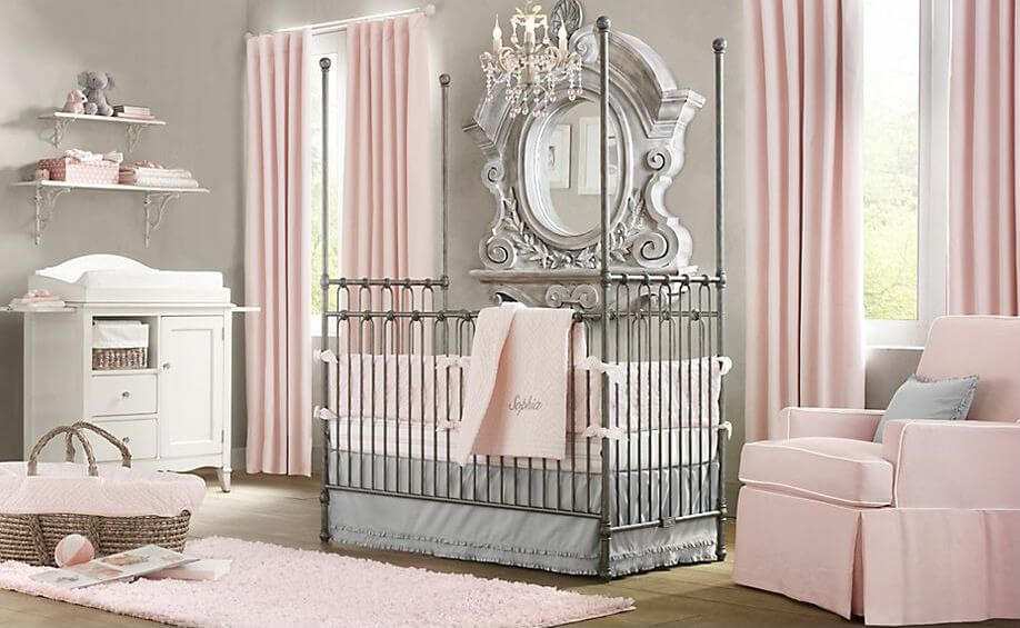 Princess rooms pink bedrooms princess decorating ideas for Baby girl room decoration ideas