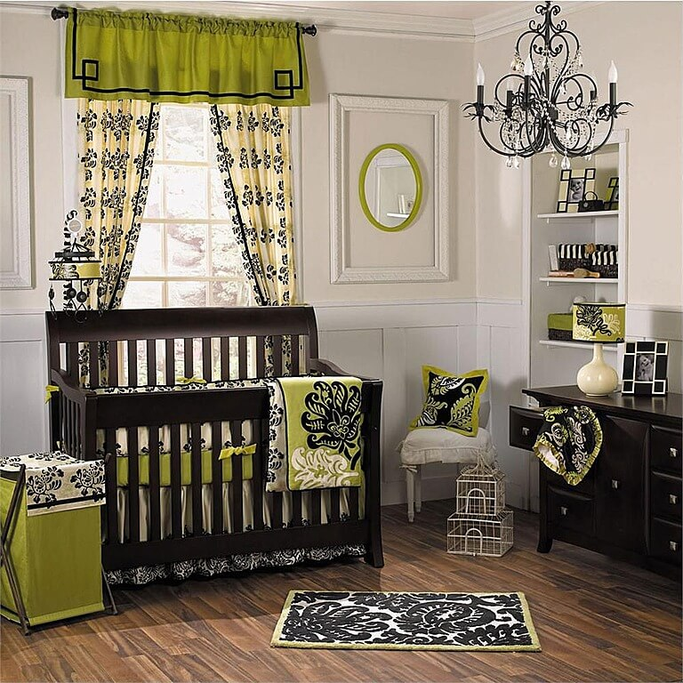 20 baby boy nursery ideas themes designs pictures for Lime green black and white room ideas
