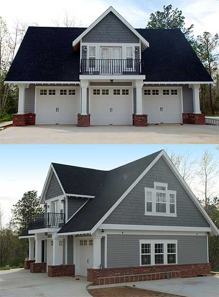 Bay garage with apartment garage plans alp 096c rachael for Three car garage house plans