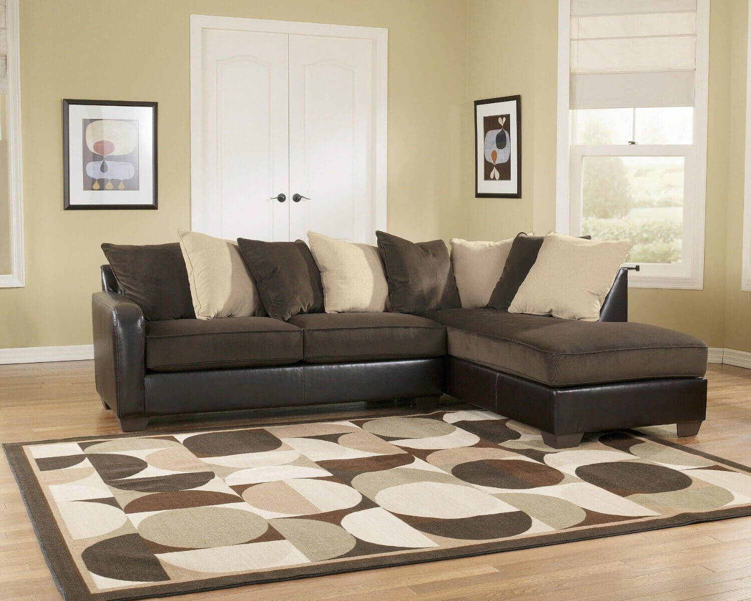 37 beautiful sectional sofas under 1 000 for Ashley beige sofa chaise
