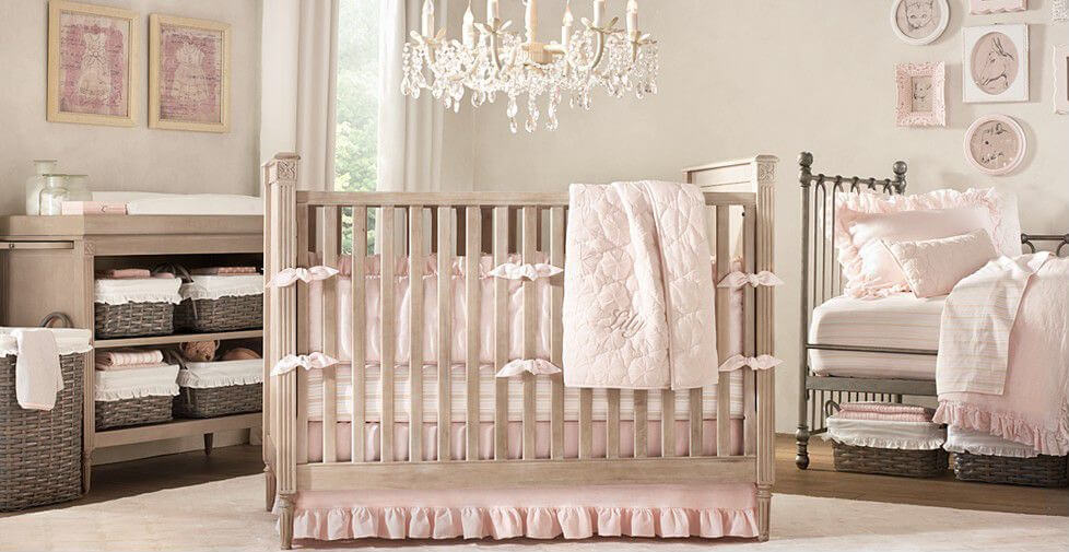 Vintage Inspired Baby Girl Bedding