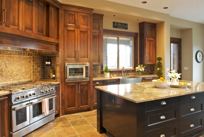 Custom home interior by nordby design studios for Earth tone kitchen designs