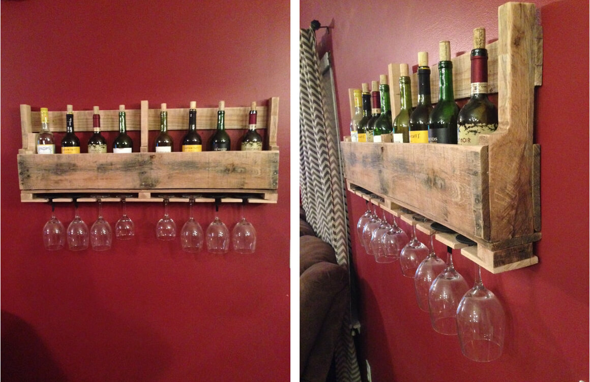 ... rack just following along to create a hanging wine rack from a pallet