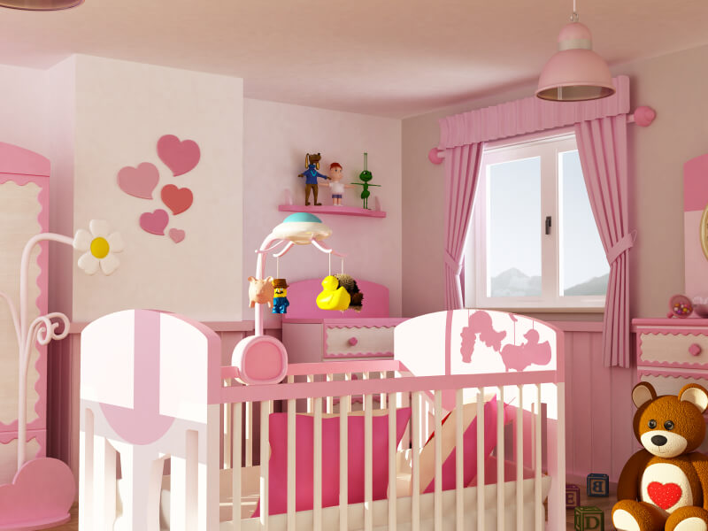 18 Baby Girl Nursery Ideas, Themes u0026 Designs (Pictures)