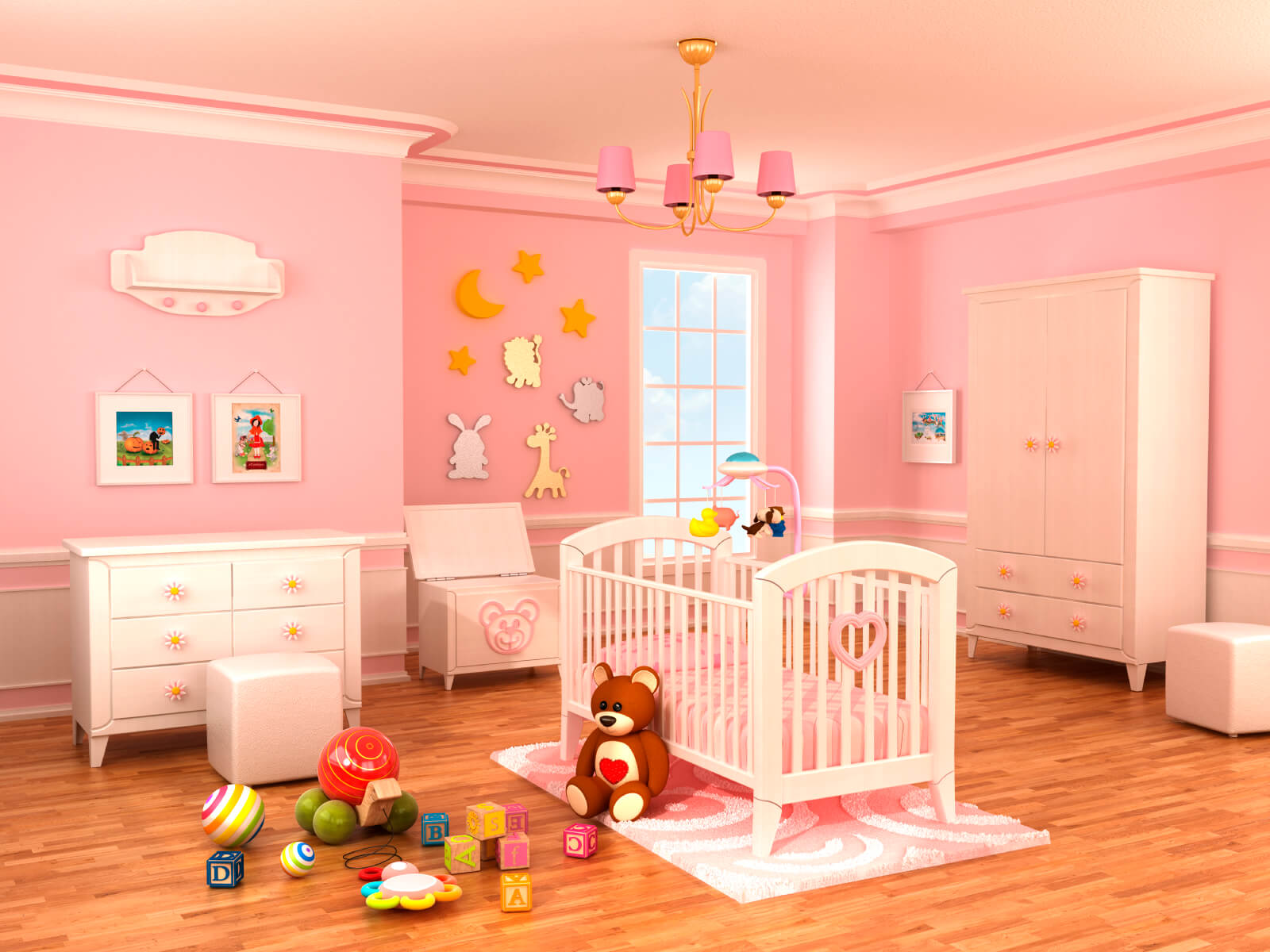 18 baby girl nursery ideas themes designs pictures. Black Bedroom Furniture Sets. Home Design Ideas